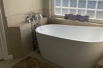 Bathroom projects by Advanced Carpet & Interiors in Waco, Texas